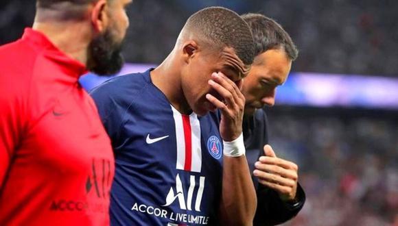 Kylian Mbappé triste por la partida de su pequeño amigo Lucas.