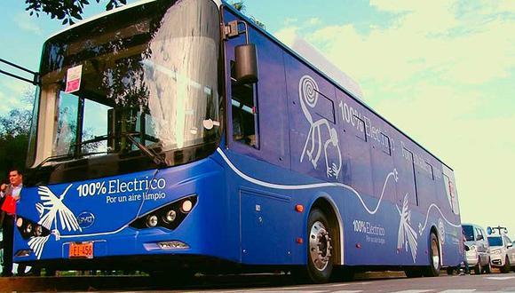 El bus eléctrico permitirá renovar la flota del transporte urbano. (GEC/Imagen referencial-Archivo)