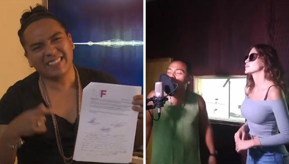 """Query George afirma que la grabación no se dio porque el hermano de Milett Figueroa lo """"paseaba"""". (Foto: Captura ATV)."""