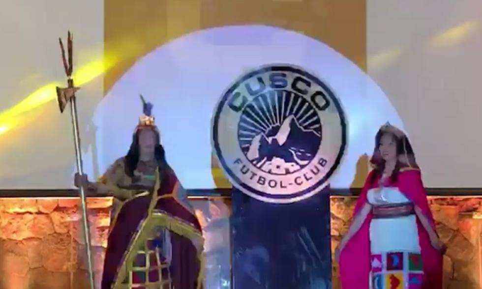 Cusco FC realizó la presentación oficial de la nueva camiseta y escudo | Foto: Captura