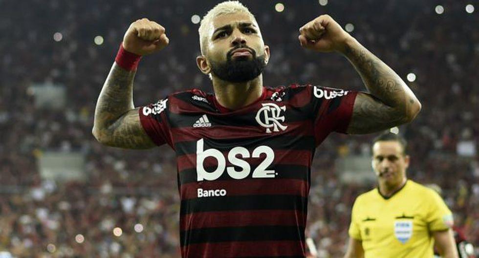 Gabriel Barbosa es el goleador de la Copa Libertadores 2019 con 7 anotaciones. (Foto: AFP)