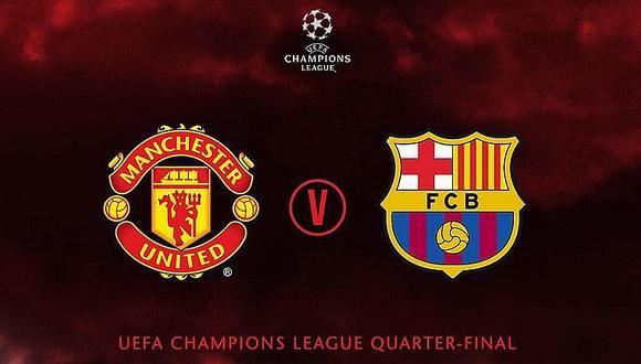 Barcelona y Manchester United se enfrentarán en cuartos de final de la Liga de Campeones