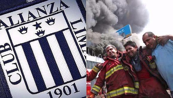 Alianza Lima: club hace donaciones para bomberos de Las Malvinas [VIDEO]
