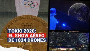 Tokio 2020: El show aéreo de 1824 drones en la inauguración de los Juegos Olímpicos