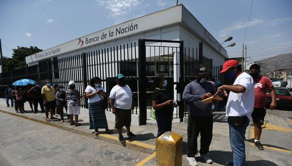 Recuerde que no debe acercarse a las agencias del Banco de la Nación para evitar contagios de coronavirus. (Foto: Jesus Saucedo | GEC)
