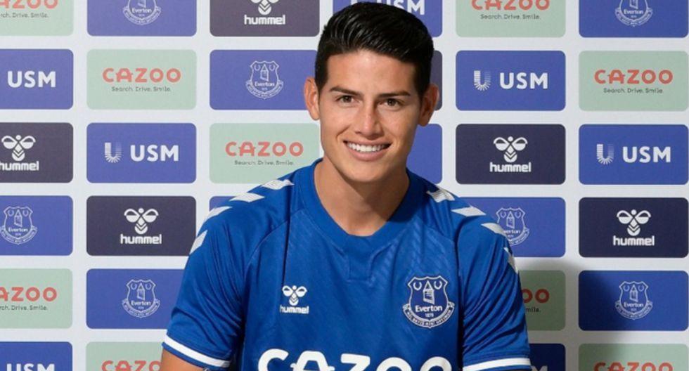 James Rodríguez ya es nuevo jugador del Everton