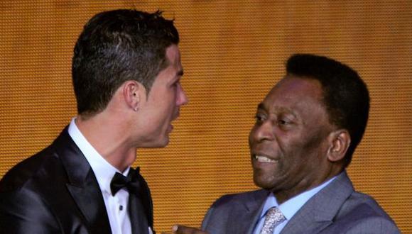 Cristiano Ronaldo superó a Pelé, pero reconoció la trayectoria del brasileño. (Foto: AFP)