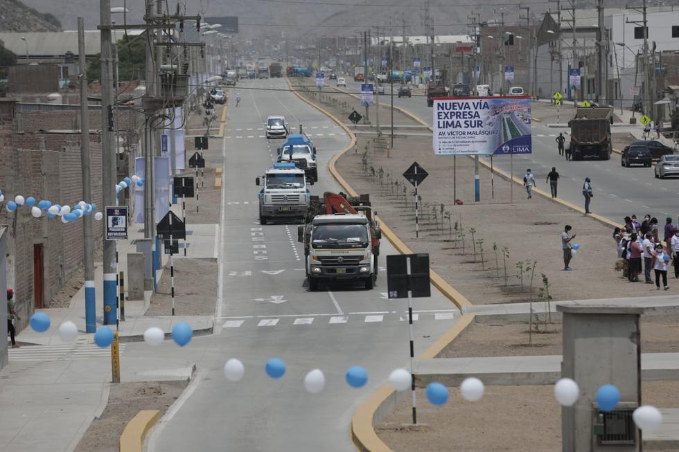 El alcalde de Lima, Jorge Muñoz, inauguró este miércoles la Vía Expresa Lima Sur, la cual cuenta con una extensión de 27 kilómetros de pistas totalmente rehabilitadas, que unen las zonas más vulnerables de los distritos de Pachacámac, Cienguilla y La Molina. (Fotos: Anthony Niño de Guzmán/GEC)