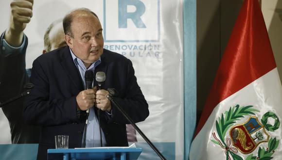 Rafael López Aliaga postula a la presidencia por Renovación Popular. (Foto: Joel Alonzo/GEC)