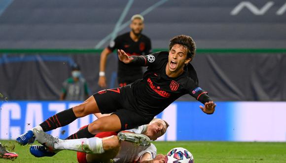 Atlético Madrid fue eliminado por Leipzig de la Champions: Joao Félix anotó el descuento, pero no les alcanzó a los colochoneros. FOTO: AFP