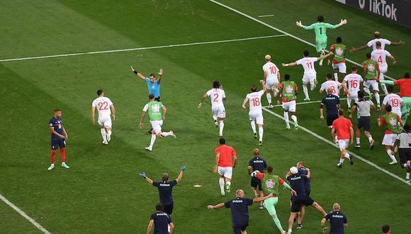 Kylian Mbappé falló el último penal de la serie entre Francia vs. Suiza. (Foto: AFP)