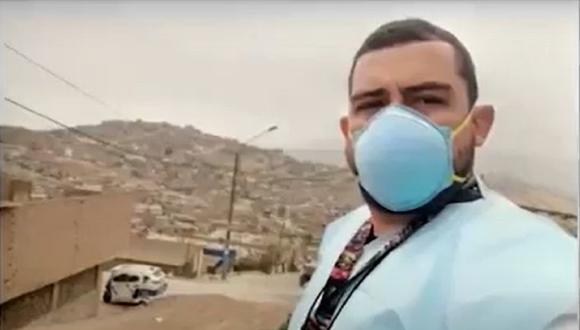 Médico venezolano es un de los primeros profesionales de la salud que fueron vacunados con la primera dosis de Sinopharm. (Captura: América Noticias)