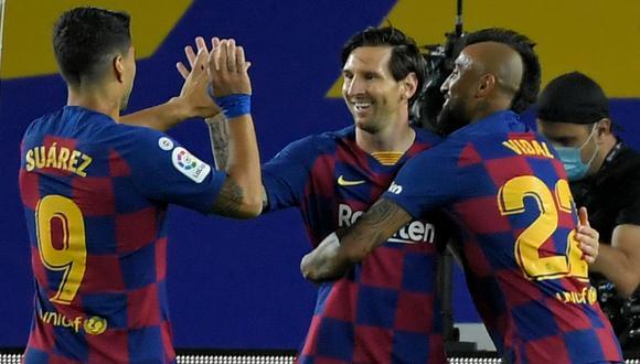 Barcelona derrotó 2-0 a Leganés en el Camp Nou con tantos de Ansu Fati y Lionel Messi en el marco de la fecha 29 de LaLiga. (FOTO: AFP)