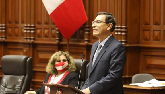 Martín Vizcarra aseguró que la moción de vacancia atenta contra su derecho a la defensa. (Foto: Congreso)