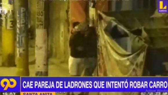 Una cámara de seguridad grabó el accionar de los delincuentes para intentar robar un vehículo. (Latina)