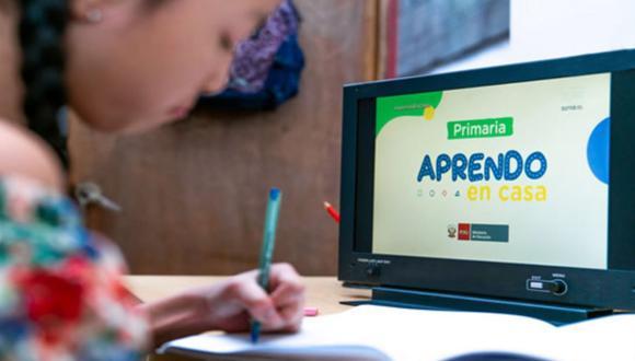 Aprendo en Casa es una estrategia de educación a distancia diseñada por el Minedu para garantizar la continuidad del servicio educativo durante la pandemia. (Foto: Minedu)