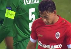 Cristian Benavente y la clara oportunidad de gol que perdió con el Antwerp en Europa League   VIDEO