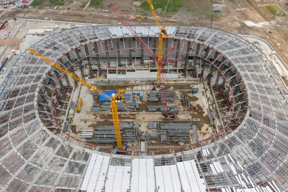 Además del estadio del Guangzhou Evergrande, en Shangai se construye el estadio del SIPG para 33 mil personas. . (Foto: STR / AFP)