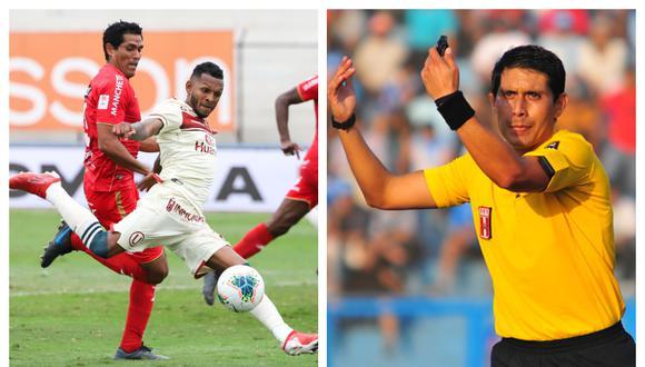 Universitario se quejó del arbitraje de Luis Garay en su último partido con Sport Huancayo.