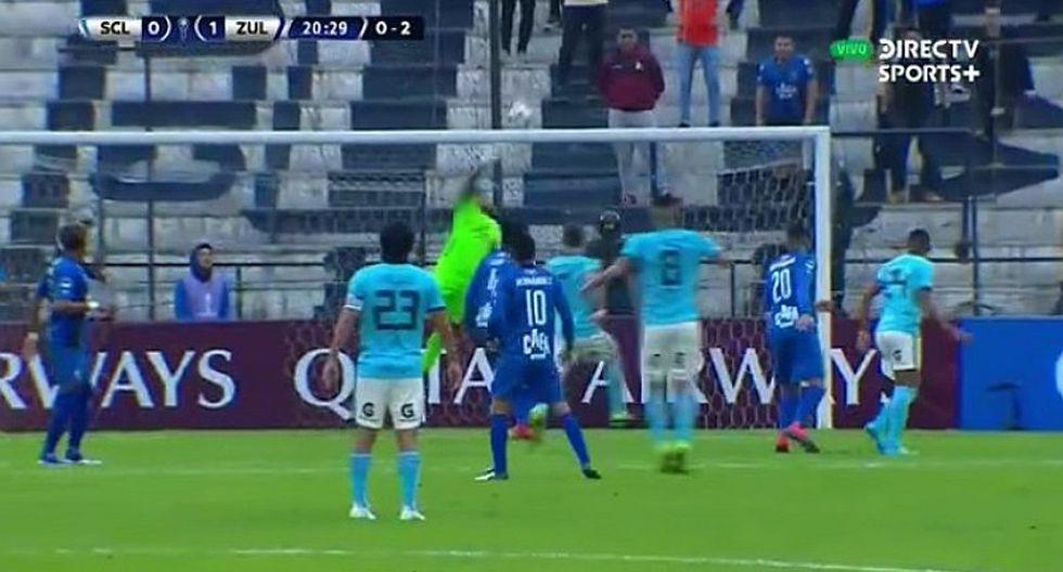 Sporting Cristal vs. Zulia EN VIVO ONLINE   Cristian Ortiz estuvo cerca de marcar golazo para el empate   VIDEO