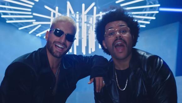Maluma y The Weeknd han sorprendido con el remix de Háwai, la exitosa canciónn del colombiano. (Foto: Captura de YouTube).