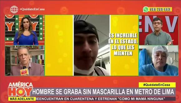Renzo Schuller se indigna con video de sujeto en Metro de Lima (Foto: captura)