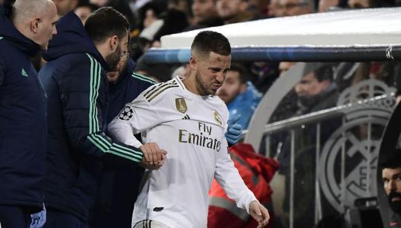 Eden Hazard se lesionó en el duelo ante PSG por la Champions League, el martes de la semana pasada. (Foto: AFP)