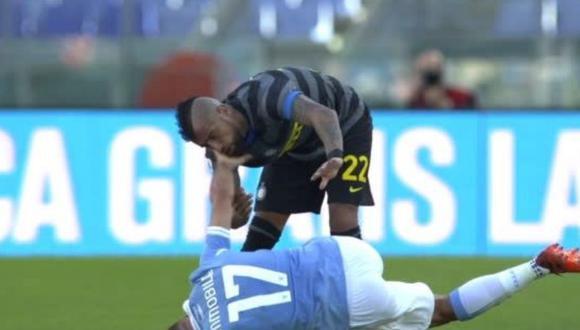 Ciro Immobile cayó en la provocación de Arturo Vidal y le aplicó golpe en la cara