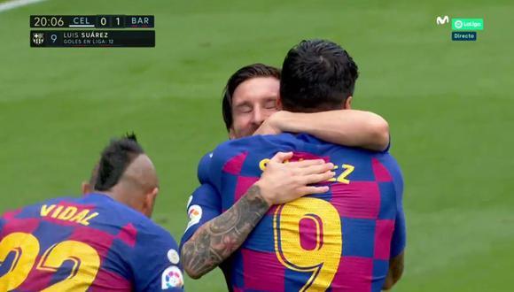 El golazo de Luis Suárez tras genialidad de Lionel Messi. (Foto: captura)