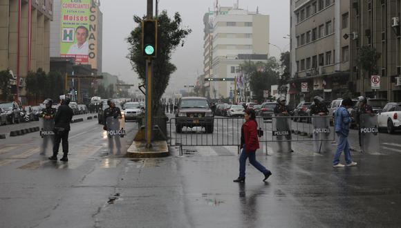 Cierre del tránsito vehicular se cumple por actividades oficiales por Fiestas Patrias. (Foto: Archivo/GEC)