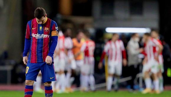 Lionel Messi fue expulsado por primera vez en su carrera profesional con Barcelona. (Foto: Agencias)