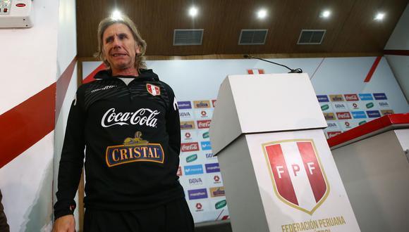 Ricardo Gareca entregará la lista de convocados de la selección peruana. (Foto: GEC)