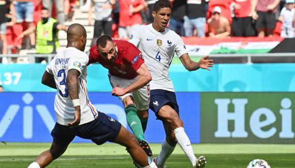 Francia y Hungría empataron 1-1 en partido por el Grupo F de la Eurocopa. (Foto: AFP)