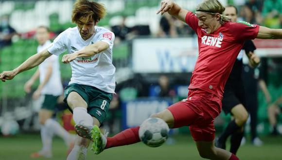 Werder Bremen se puso 3-0 sobre Colonia en menos de 10 minutos. (Foto: Werder Bremen)
