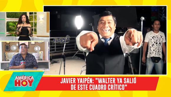"""Javier Yaipén revela en """"América Hoy"""" que su hermano Walter ya salió del cuadro crítico del COVID-19. (Foto: Captura de video)"""