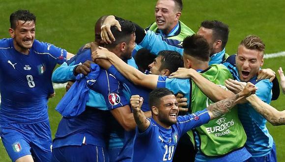 Italia venció 2-0 a España y clasificó a los cuartos de final de la Eurocopa 2016
