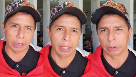 El candidato presidencial por Perú Libre, Pedro Castillo anunció en su cuenta oficial de Twiter que acepta el debate con Keiko Fujimori y le dejó una frase que recuerda al exmandatario, Alberto Fujimori. FOTO: Pedro Castillo