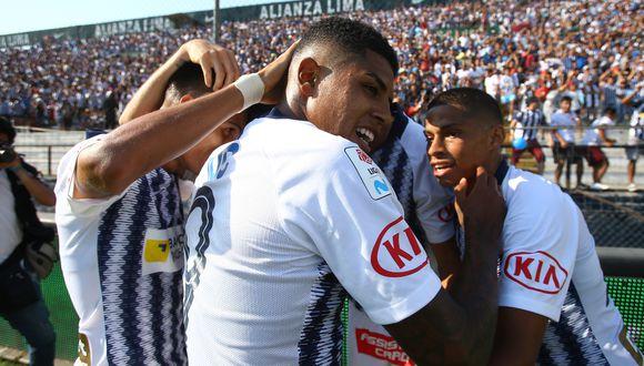 Alianza Lima obtuvo su clasificación a la Libertadores 2020 tras vencer a Sport Huancayo en Matute   Foto: GEC