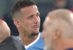 Lazio vs. Inter: Luiz Felipe lloró por ser expulsado tras celebrar abrazando a su rival   VIDEO