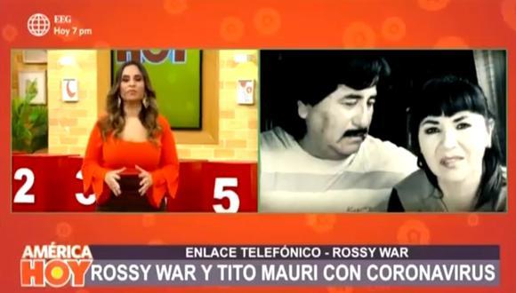 Rossy War reveló que ella, Tito Mauri y sus hijos se contagiaron de COVID-19. (Foto: Captura de video)