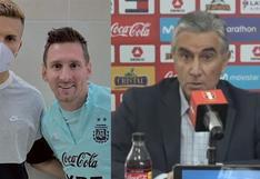 Oblitas se refirió a la foto del hijo de Agustín Lozano con Lionel Messi