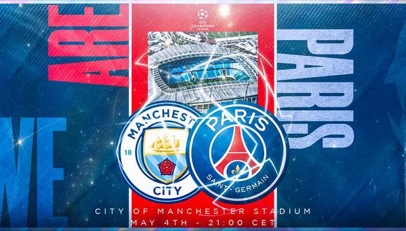 Manchester City vs. PSG en vivo, se enfrentan por las semifinales de la Champions League. (Foto: Twitter PSG)