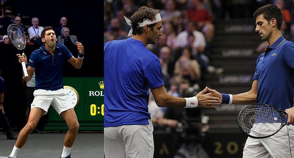 El blooper de Novak Djokovic que perjudicó a Roger Federer