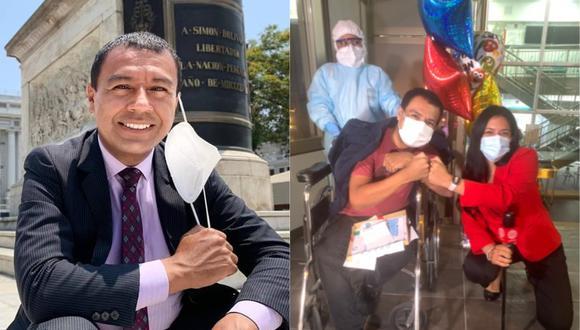El periodista de Canal N Jimmy Chinchay superó el coronavirus y fue dado de alta.
