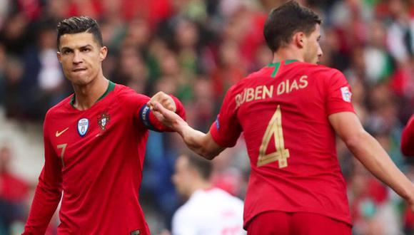 Rúben Dias y Cristiano Ronaldo jugaran la Eurocopa 2021 por la Selección de Portugal (Foto: Twitter)
