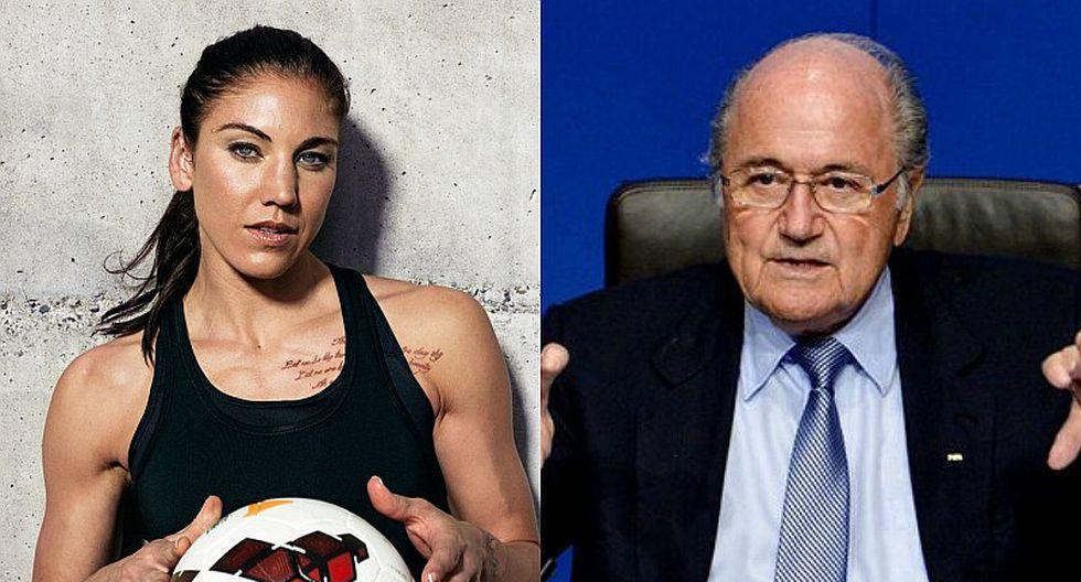 Joseph Blatter respondió acusación sobre acoso sexual contra Hope Solo