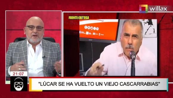 """Beto Ortiz arremetió contra Nicolás Lúcar a quien llamó """"viejo cascarrabias"""". (Captura Willax)"""