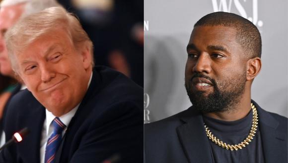 Donald Trump opinó sobre eventual candidatura de Kanye West. (Foto: AFP)