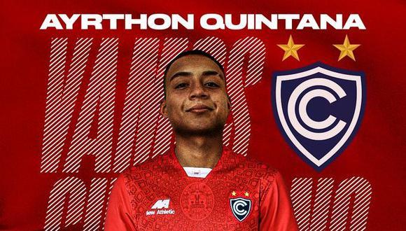 Quintana, de 20 años (categoría 2001), juega de lateral izquierdo. (Foto: Cienciano)