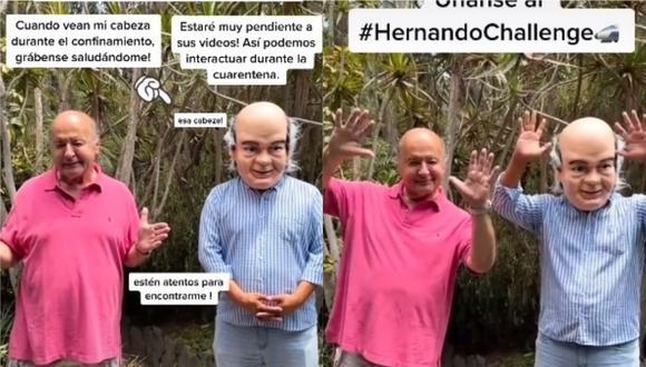 """A través de su cuenta de Tik Tok Hernando de Soto subió un vídeo junto a su """"gemelo""""."""